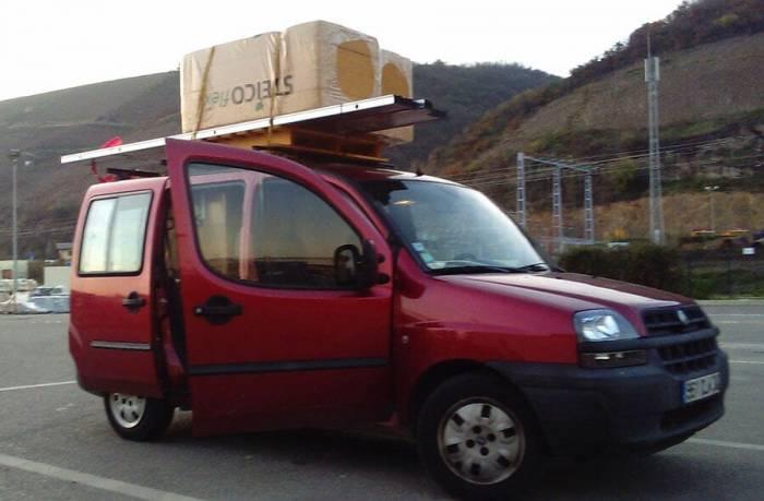 doblo transport matériaux