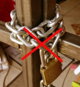 cadenas haute sécurité abus