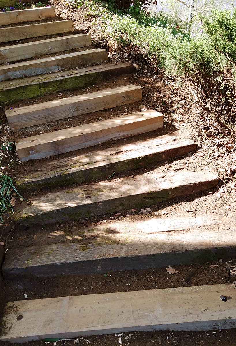 escalier bois exterieur